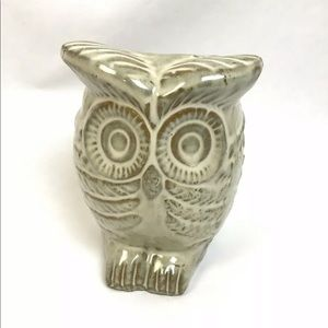 Other - Ceramic Owl Planter Vase Green Porch Accessory